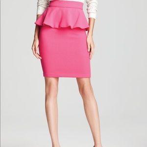 Alice and Olivia pink peplum skirt